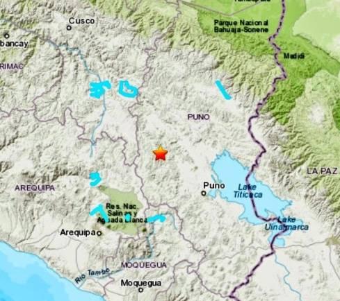 Sismo de 6 grados sacude a Perú