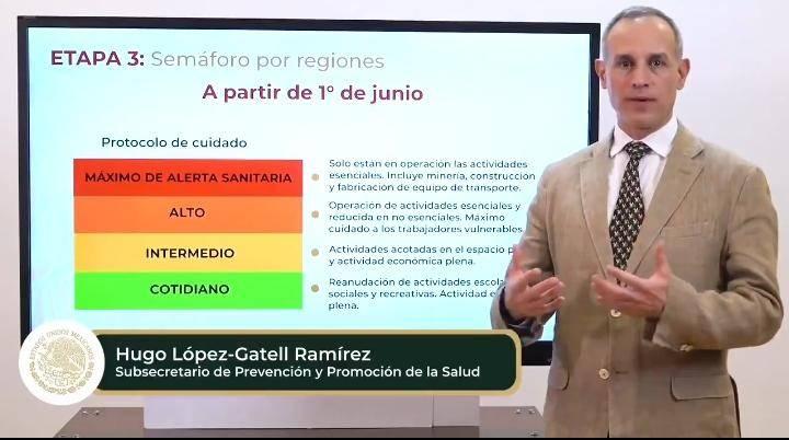 López-Gatell pide atender recomendaciones sanitarias y semáforo Covid-19