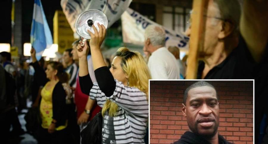 Por toque de queda en Washington protestan con cacerolas la muerte de George Floyd