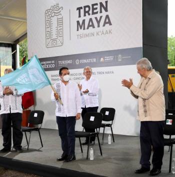 AMLO pide a la oposición respeto en inicio de Tren Maya
