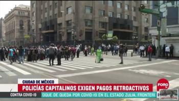 Policías de la Ciudad de México exigen pagos