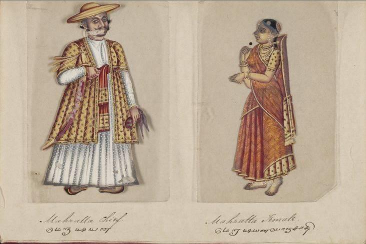 72 castas de la India, un manuscrito ilustrado de 1837