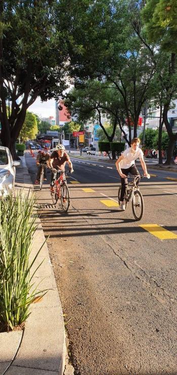 Implementan ciclovías para evitar aglomeraciones