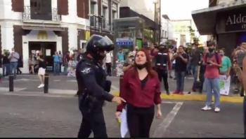 Protestas por muerte de Giovanni López en Jalisco, policía interviene