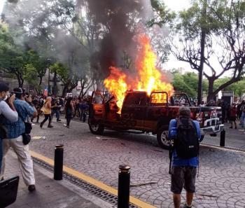 Actos vandálicos en Jalisco por la muerte de Giovanni López