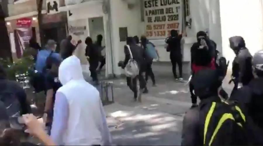 Violencia en Reforma y embajada de Estados Unidos