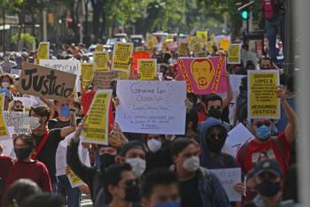 Protestan en Jalisco por asesinato deGiovanni