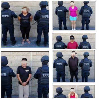 Capturan a 4 hombres y 2 una mujer por actividad delinctuosa que operaban en Salamanca