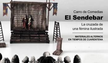 """Carro de Comedias """"El Sendebar"""" estacionado, pero en marcha"""