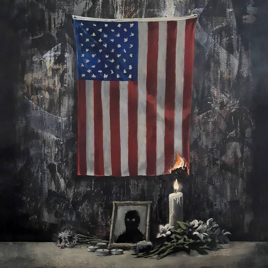 Banksy le rinde homenaje a George Floyd