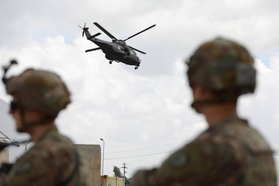 E.U. utilizó helicópteros para dispersar manifestantes