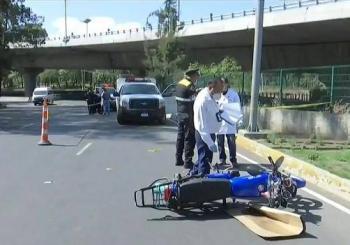 Fallece por accidente motociclista en Periférico y Reforma