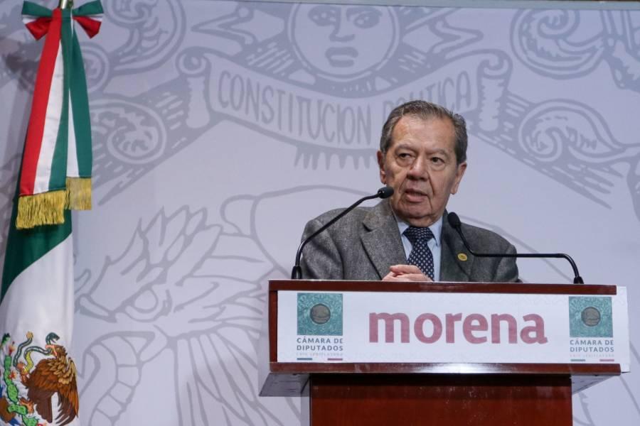 Muñoz Ledo solicita a morenistas apoyar la creación del Ingreso Básico Ciudadano