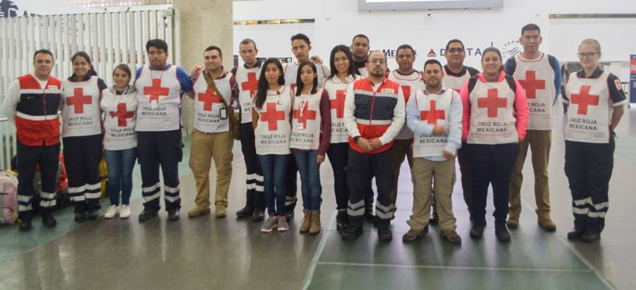 Envía Cruz Roja socorristas a Texas por huracán Harvey