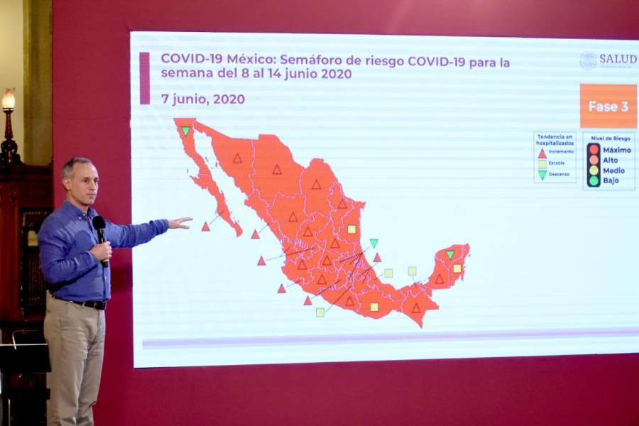 Suman más de 13 mil muertes por Covid-19en México