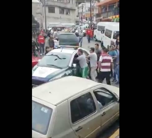 Sujeto dispara desde una patrulla de la SSC y hiere a un hombre en la cabeza en Cuajimalpa