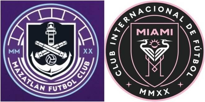 Internautas señalan similitud entre escudo del Inter de Miami y el Mazatlán FC