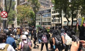 Policía capitalina evito confrontaciones durante la marcha