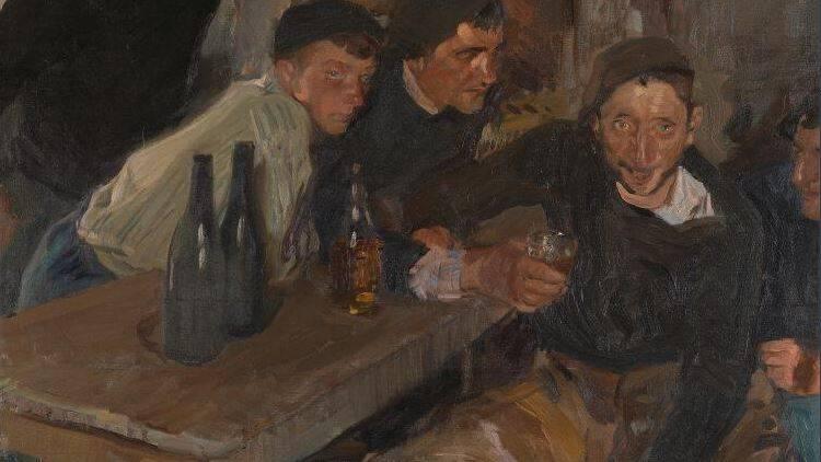 """""""El borracho de Zarauz"""" obra de Sorolla desde la National Gallery"""