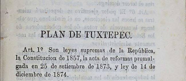 Plan de Tuxtepec y Palo Blanco, la lucha de Porfirio Díaz contra la reelección