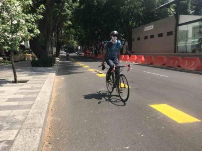 Congreso CDMX pide la permanencia de la ciclovía emergente en insurgentes