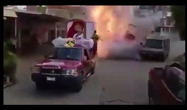 2 heridos por explosión de pirotecnia en peregrinación