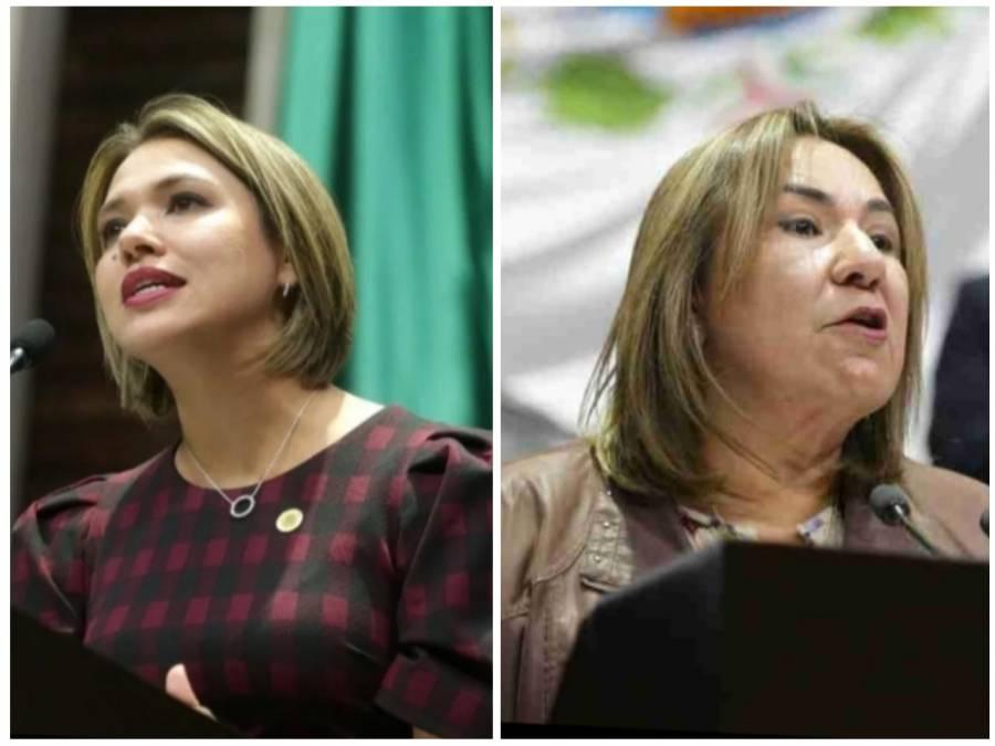 Se ve afectada la economía del país, proponen empleos temporales; Las diputadas Margarita Flores y Erika Sánchez.