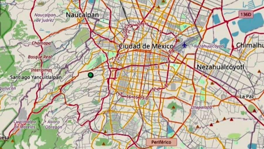 Sismo de magnitud 1.8 sacude la alcaldía Álvaro Obregón