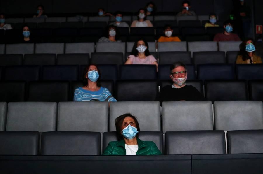 Salas de cine reabren en Madrid