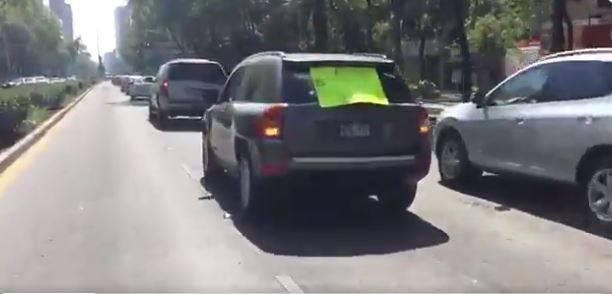 Arman caravana contra López Obrador en CDMX