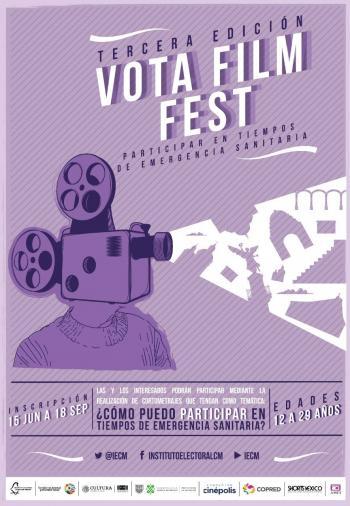 "Invita IECM a la Tercera edición del Concurso de cortometrajes ""Vota Film Fest"""