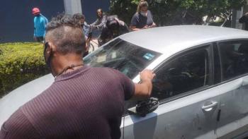 Automovilista intenta atropellar a policías en Calzada de Tlalpan