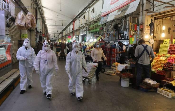 Refuerzan normas en Central de Abasto para evitar contagios por Covid