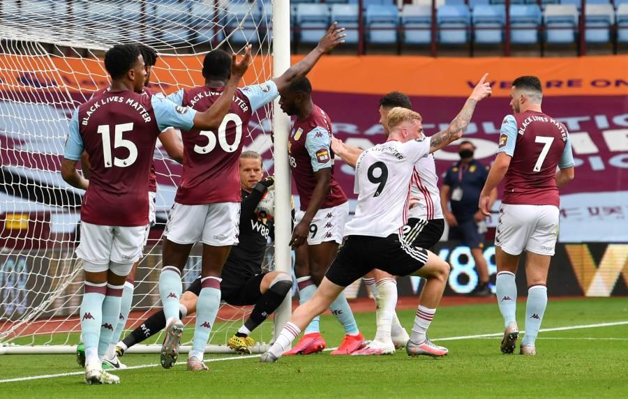 Premier League regresa con polémico empate en el Aston Villa vs Sheffield