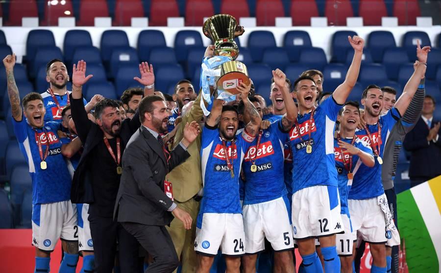 """Napoli conquista la Coppa Italia ante la Juventus; """"Chucky"""" no jugó"""