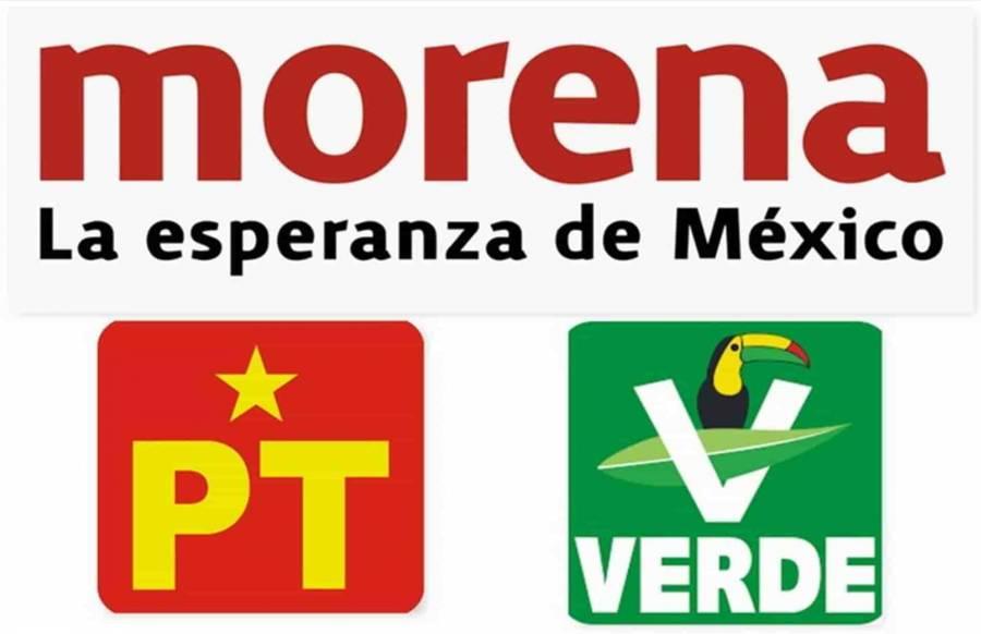 Morena, Partido Verde y PT se unen