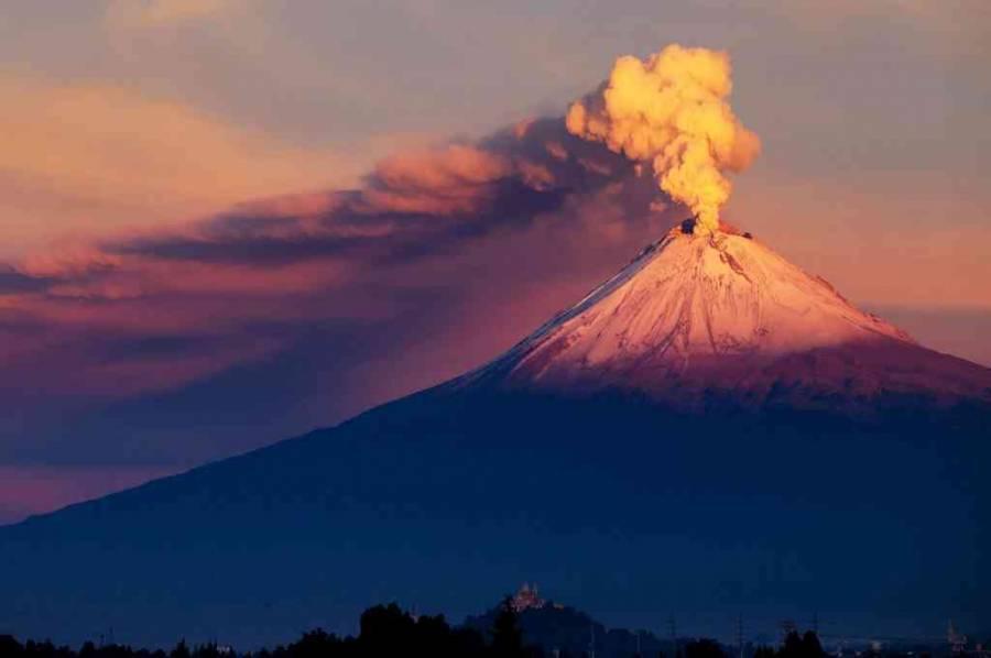 Ha sido muy baja la actividad del volcán Popocatépetl desde el año 2020