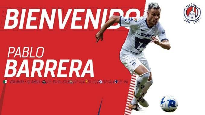Atlético de San Luis presenta a Pablo Barrera