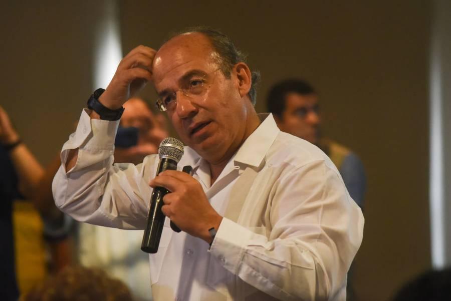 """""""Se desvían espacios para una foto simulada"""": Calderón sobre simulacro de AMLO"""