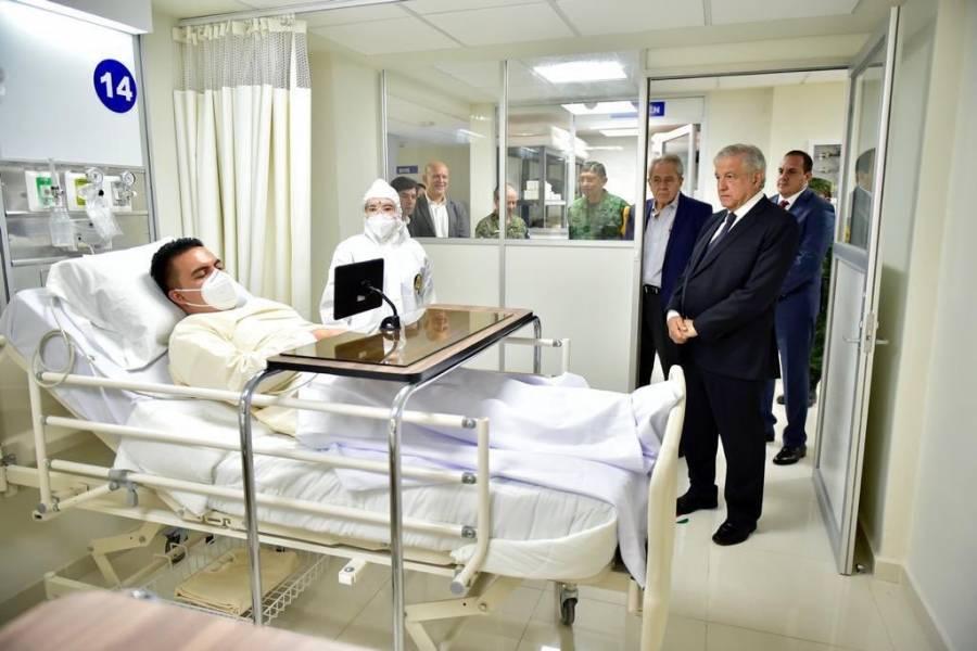 Aclara ISSSTE que foto de AMLO en hospital fue simulacro por Covid-19