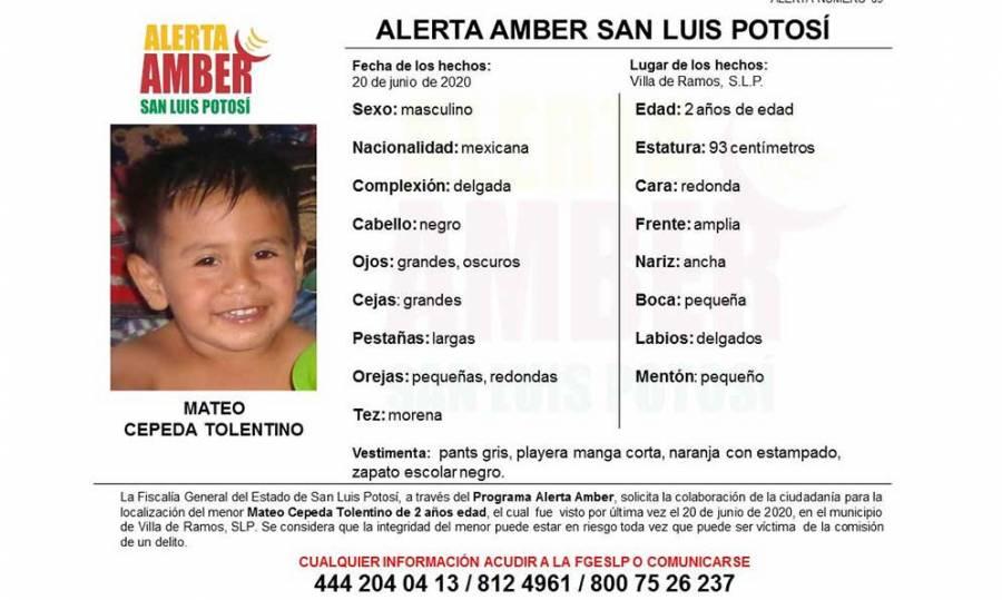 Mateo Cepeda desapareció en la comunidad de Santa Lucía en San Luis Potosí