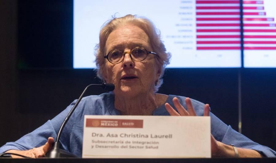 Asa Christina Laurell denunció presiones para su renuncia