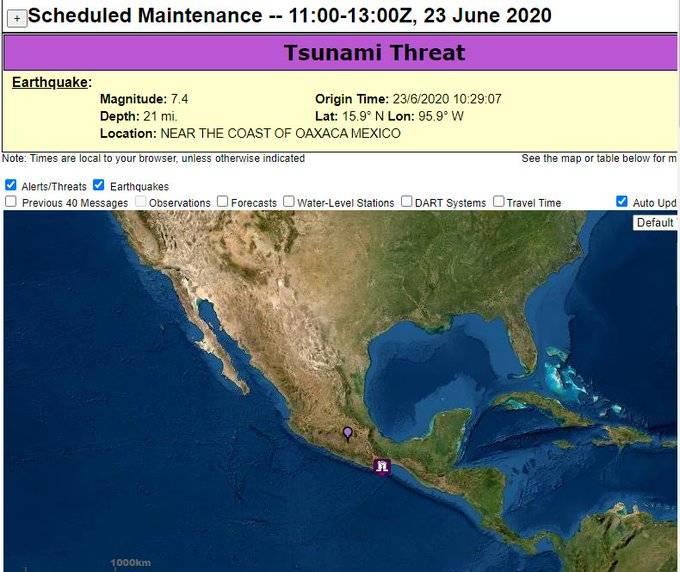 Advierte Conagua de Tsunami en costas de Oaxaca