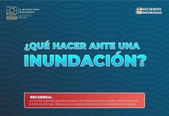 ANTE LLUVIAS RETIRAN BASURA Y ARMAN CAMPAÑA PREVENTIVA EN MAGDALENA