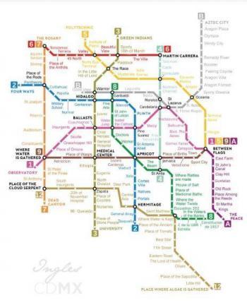 Traducen mapa del Metro de la CDMX al inglés