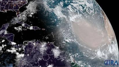 Se aproxima una masa de polvo proveniente de África; UNAM