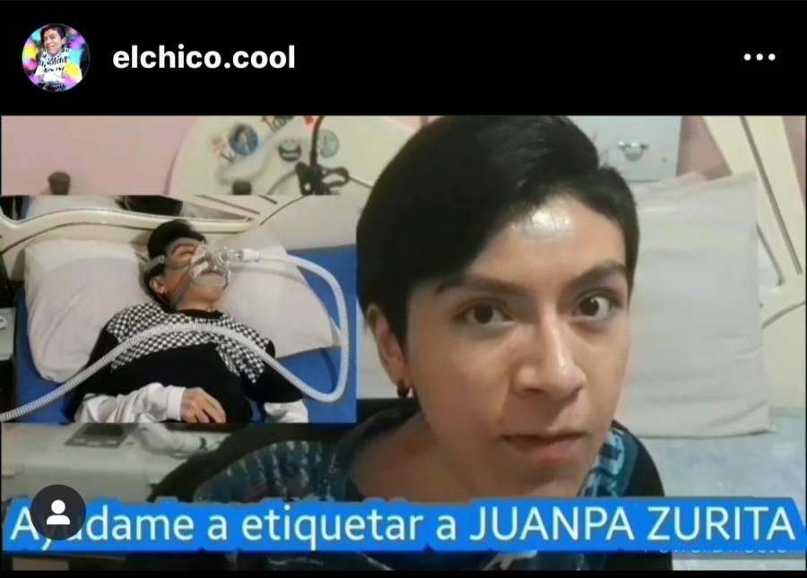 Alejandro García pide apoyo a Juanpa Zurita por Instagram, necesita un respirador