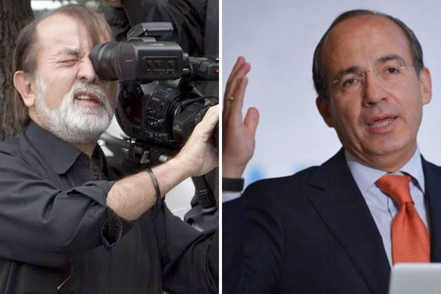 Dice Calderón a Epigmenio apologista del narco y que le perdonan impuestos
