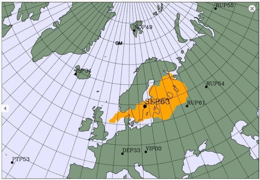 Aumento de radioactividad humana en Europa