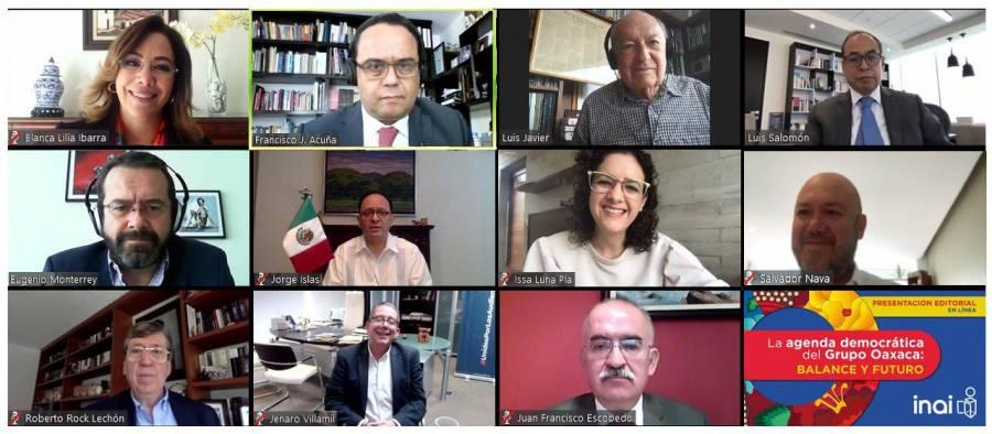 Grupo Oaxaca defiende órganos garantes de la transparencia como contrapeso del poder